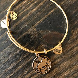 Alex and Ani gold Leo lion bracelet